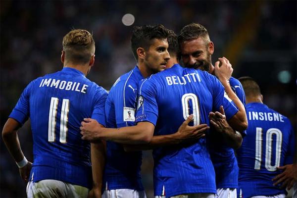 سيكون المنتخب الايطالي أحد أربعة منتخبات أوروبية مصنفة في المستوى الأول في قرعة الملحق الأوروبي المؤهل الى كأس العالم 2018