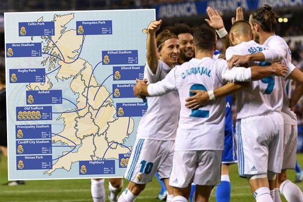 ريال مدريد لم يسبق له ان لعب أي مباراة على ملعب