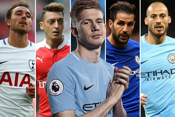 صنف اللاعب البلجيكي كيفين دي بروين نجم خط وسط مانشستر سيتي كأفضل مهندس للأهداف وأحسن ممرر في بطولة الدوري الإنكليزي