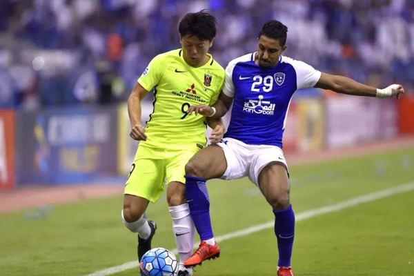 تعادل الهلال السعودي مع ضيفه اوراوا ريد دايموندز الياباني 1-1