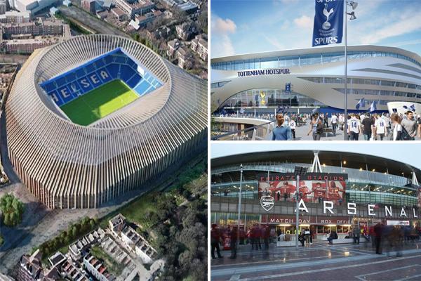 ملعب نادي تشيلسي الجديد الذي يتسع لـ 60 الف متفرج بتكلفة بلغت مليار جنيه إسترليني سيكون الأغلى بين الملاعب الأوروبية