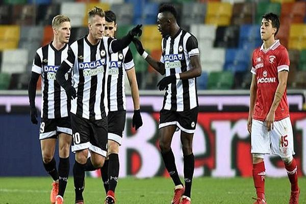 أودينيزي يهز شباك بيروجيا 8 مرات في كأس إيطاليا