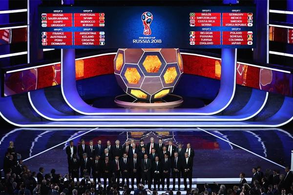 مجموعات نهائيات كأس العالم روسيا 2018