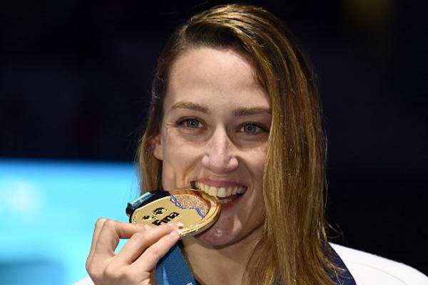 احرزت الاسبانية ميريا بلمونتي غارسيا ذهبية سباق 200 م فراشة