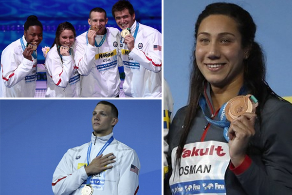 منحت السباحة فريدة عثمان ميدالية تاريخية لمصر
