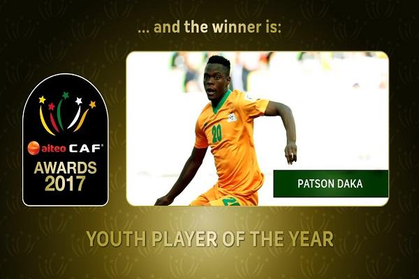 باتسون داكا من زامبيا أفضل لاعب شاب في أفريقيا