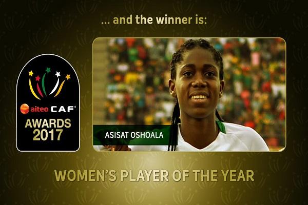 أسيسات أشولا أفضل لاعبة في أفريقيا ٢٠١٧