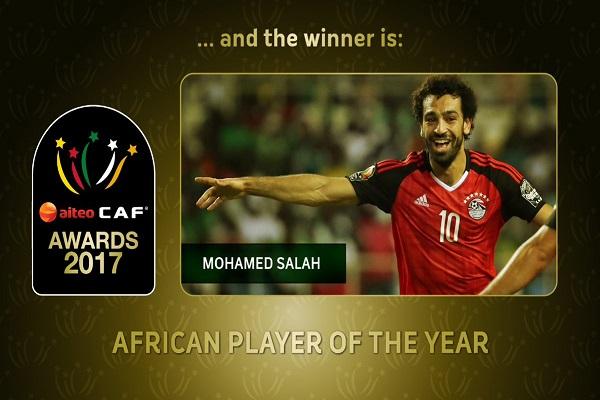 محمد صلاح يتوج جهوده في 2017 بجائزة افضل لاعب أفريقي