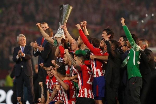 أتلتيكو مدريد يتخطى مرسيليا بثلاثية ويحرز لقب الدوري الأوروبي