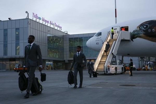 وصول المنتخب السعودي الى سان بطرسبورغ