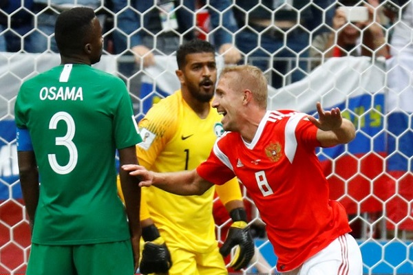 روسيا تكتسح السعودية بخماسية في افتتاح كأس العالم