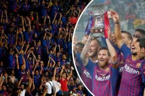 ساهمت المؤازرة الكبيرة للجماهير المغربية في مساعدة برشلونة على تحقيق الفوز بعدما كان متخلفاً في النتيجة
