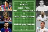أساطير برشلونة وريال مدريد يحتكرون تشكيلة