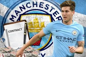 باشرت إدارة نادي مانشستر سيتي مفاوضاتها الرسمية مع مدافع الفريق الدولي الإنكليزي جون ستونز لتمديد عقده