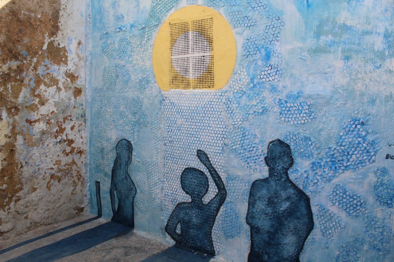 منحوتة في حديقة مكتبة الامير بندر بن سلطان