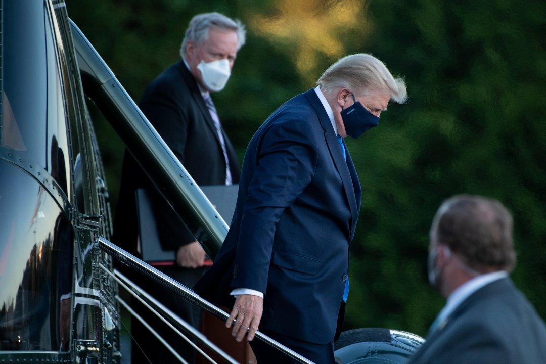 الرئيس ترمب يغادر مارين وان في مركز والتر ريد الطبي في بيثيسدا