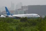 انزلاق طائرة صينية على مدرج مطار مانيلا وسط تساقط غزير للأمطار
