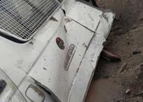 عربة الأمن الأردنية التي استهدفت بالتفجير