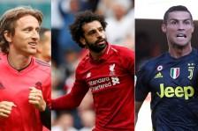 محمد صلاح ورونالدو ومودريتش في القائمة النهائية لأفضل لاعب في أوروبا