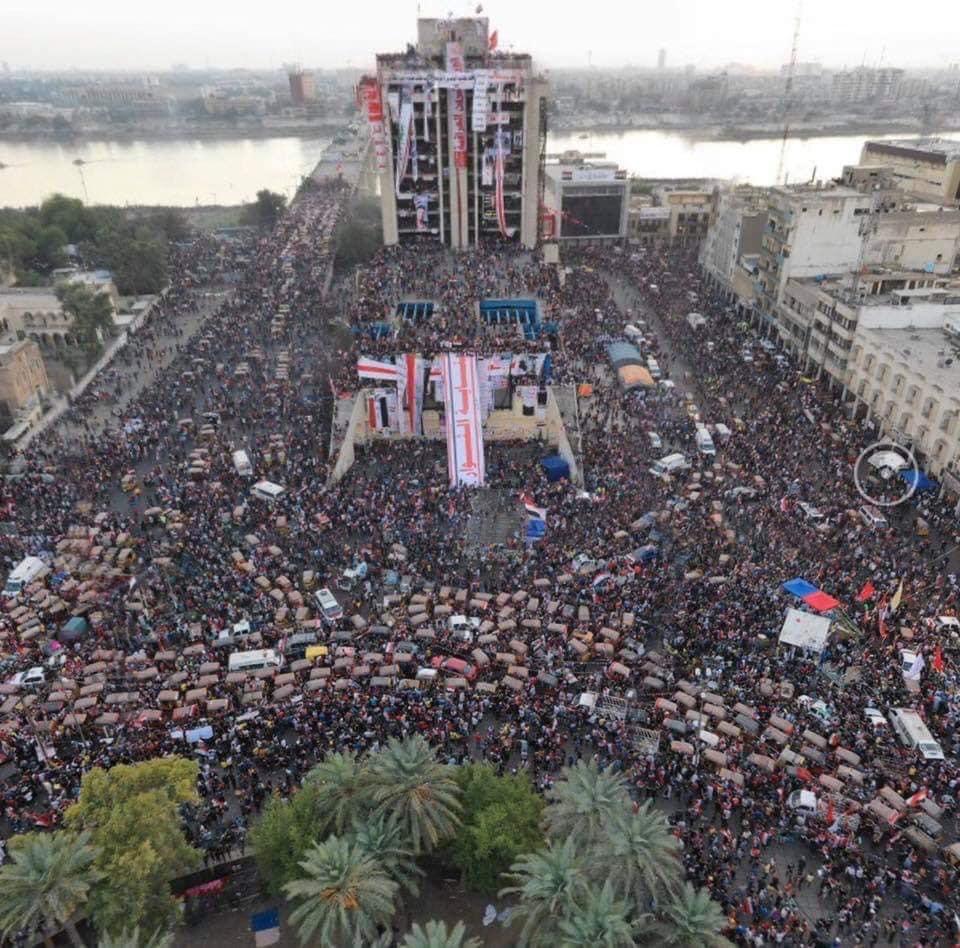 هذا هو جبل أحد أيقونة متظاهري الاحتجاجات العراقية
