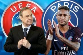 فلورنتينو بيريز يترقب نهاية التحقيقات التي يجريها الاتحاد الأوروبي مع نادي باريس سان جيرمان لخطف نيمار