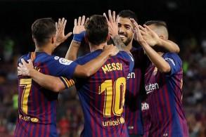 إنطلاقة جيدة لبرشلونة وميسي في الدوري الإسباني