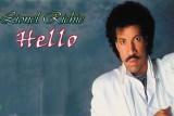 ليونيل ريتشي على غلاف أغنيته الشهيرة Hello