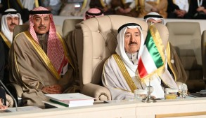 أمير الكويت في افتتاح قمة تونس