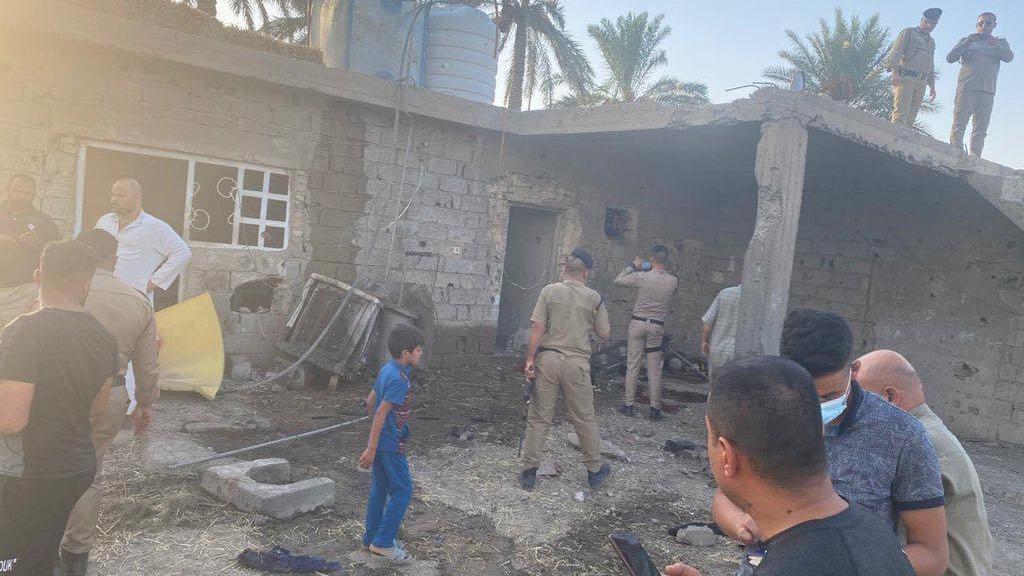 منزل قرب مطار بغداد الدولي اصابه صاروخ كاتيوشا