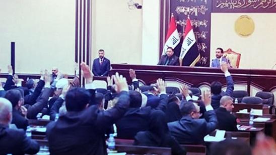 البرلمان العراقي مصوتا على احد القوانين