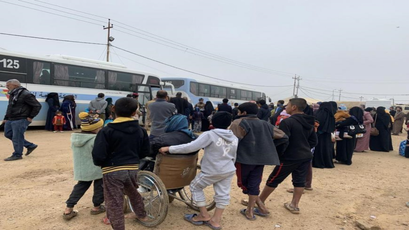 عمليات ترحيل النازحين في العراق من مخيماتهم