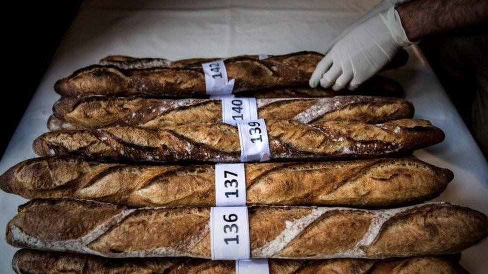 خبز فرنسي طويل شارك في مسابقة في باريس في أبريل/نيسان الماضي