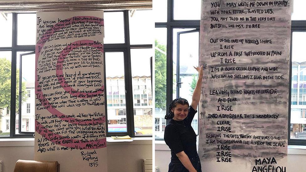 فاطمة عبد كانت من بين القادة المنتخبين لاتحاد الطلبة الذين اختاروا استبدال قصيدة كيبلينغ بقصيدة لمايا أنجيلو