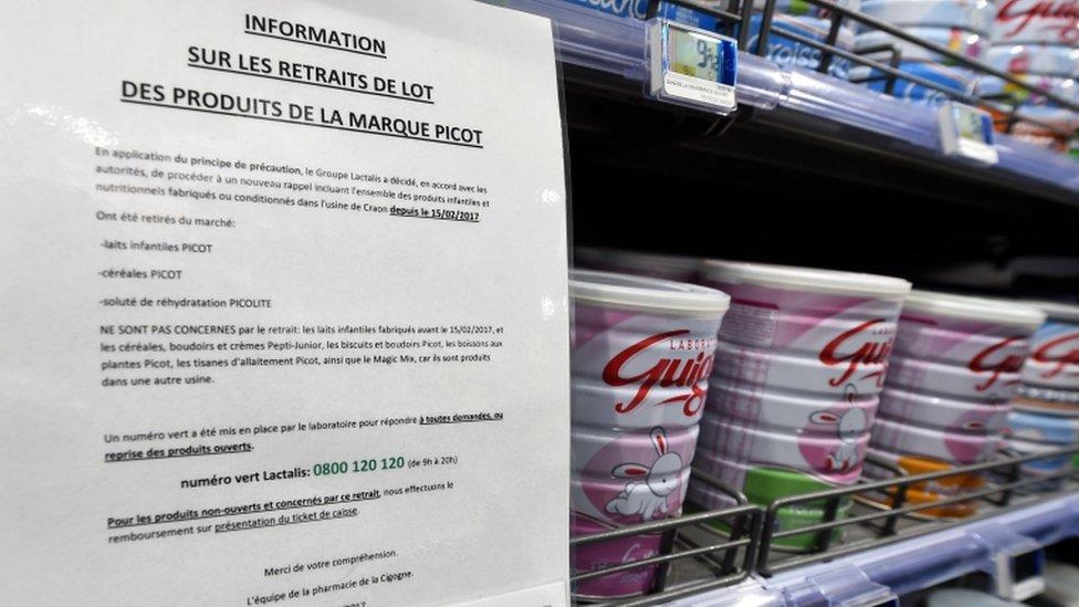 صدر أمر سحب المنتجات في ديسمبر/كانون الأول الماضي بعد اكتشاف تفشي بكتريا السالمونيلا في المصنع.