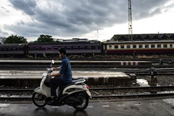 صورة أرشيفية لمحطة سكك حديدية في بانكوك