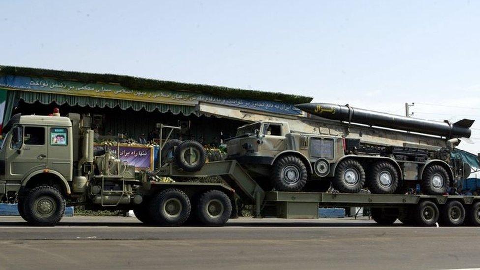 صواريخ باليستية إيرانية