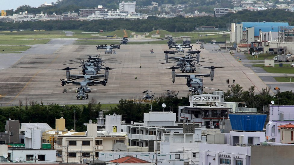 القاعدة العسكرية الأمريكية في أوكيناوا تضم حوالي 26000 جندي أمريكي