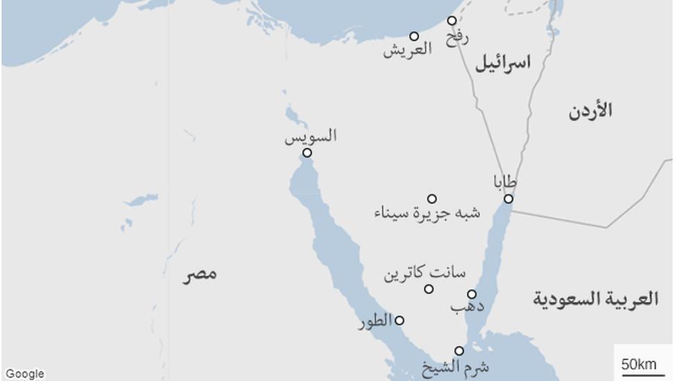 من الصعب السيطرة على سيناء بسبب كبر مساحتها وطبيعتها الصحراوية\