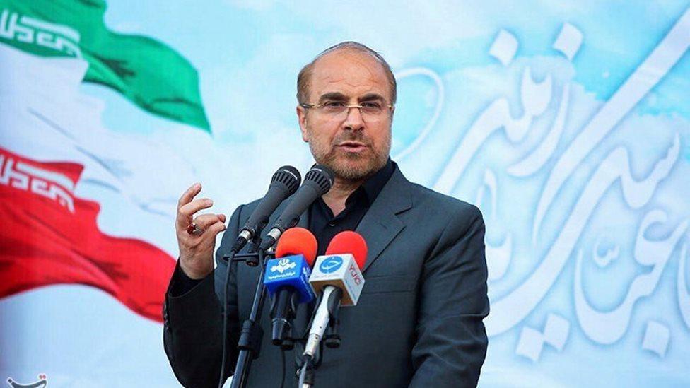 رئيس بلدية طهران محمد باقر قاليباف