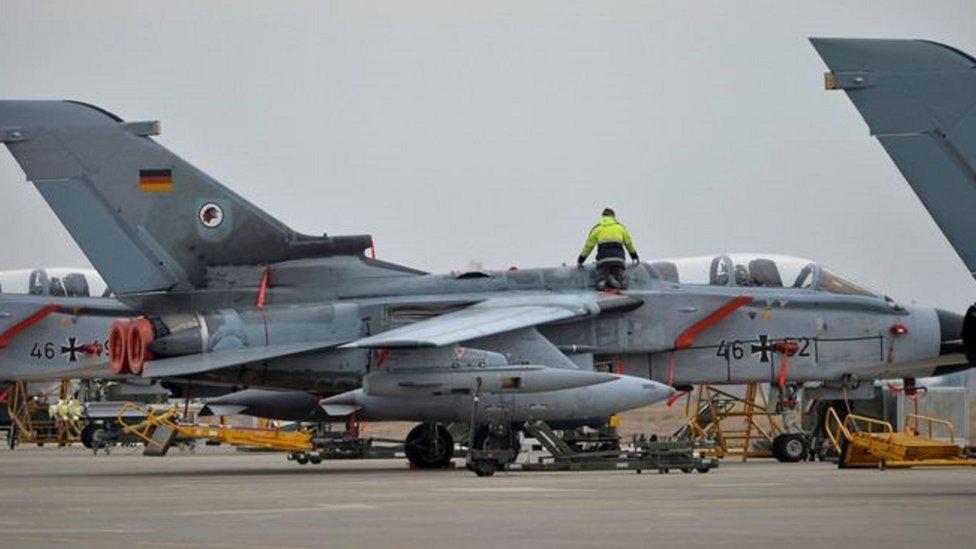 الطائرات الألمانية تشارك في الحملة على تنظيم الدولة الإسلامية