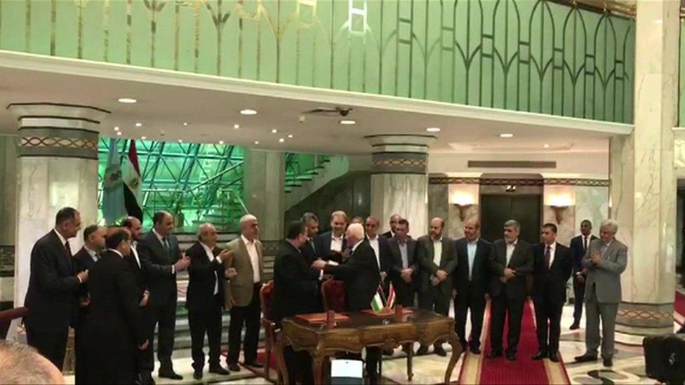 وقع الاتفاق في أكتوبر / تشرين الأول 2017 في العاصمة المصرية