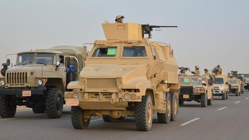 القوات الأمنية المصرية عززت من انتشارها في مناطق العملية العسكرية