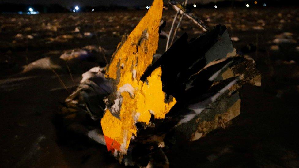 جزء من حطام الطائرة عثر عليه خارج موسكو