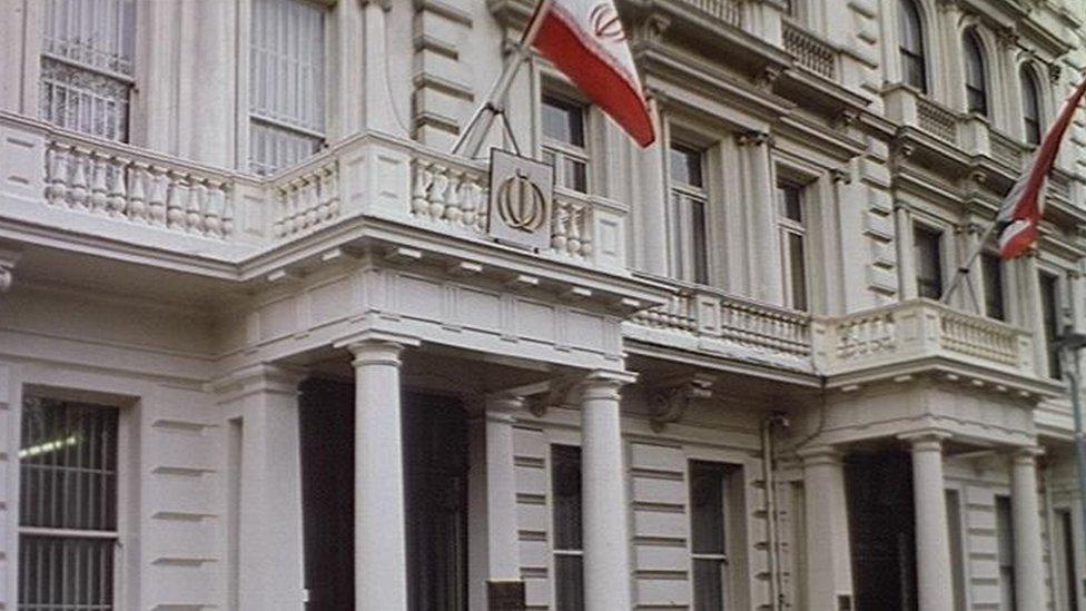 السفارة الإيرانية بلندن