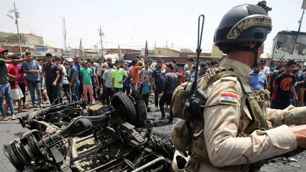 انفجار سابق في العاصمة العراقية، بغداد (أرشيف)