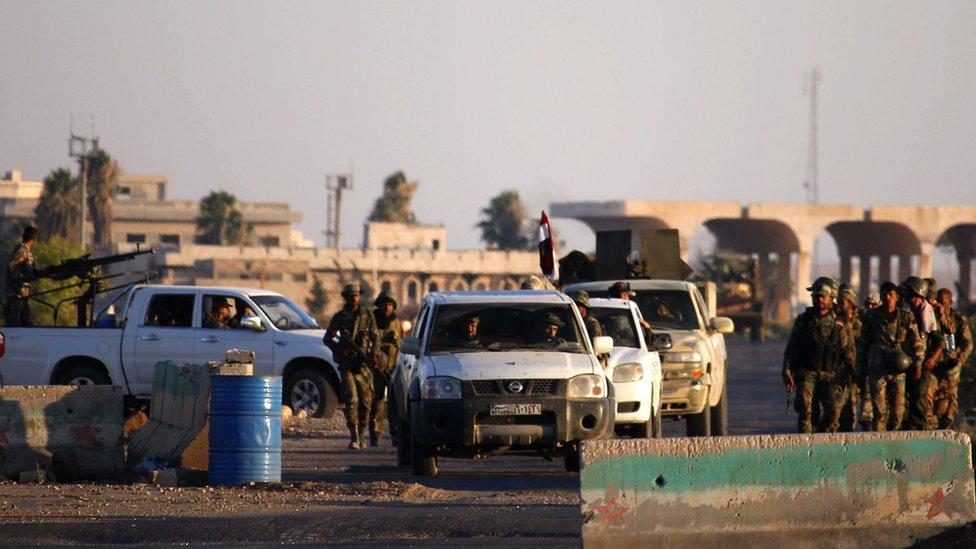 القوات الحكومية السورية تسعيد السيطرة على معبر نصيب الحدودي مع الأردن