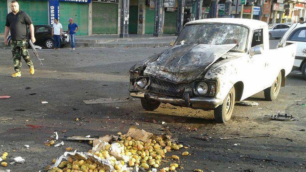 صور ما بعد التفجير كما نقلتها وسائل إعلام حكومية