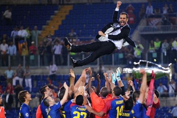 بيب غوارديولا فاز مرتين بدوري أبطال أوروبا كمدير فني في عامي 2009 و2011