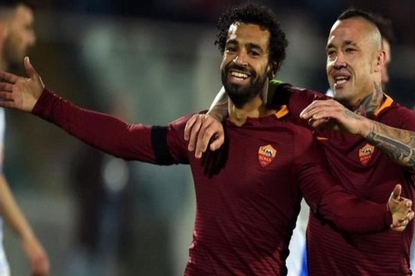 محمد صلاح سجل 15 هدفا في 31 مباراة خاضها مع روما في الدوري الإيطالي في موسم 2016-2017