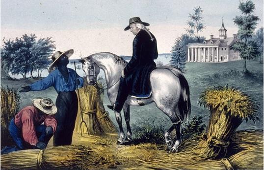 باسم الحرية: جورج واشنطن إلى جانب عبيد في ماونت فيرنون التي كان يملكها